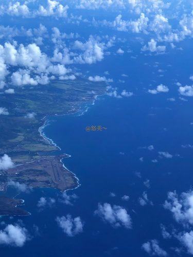 ハワイ カウアイ島上空