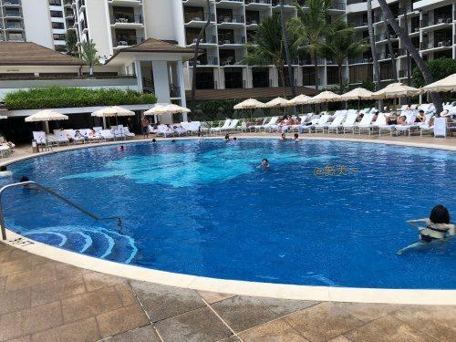 Hawaii ハレクラニホテル  プールサイド4