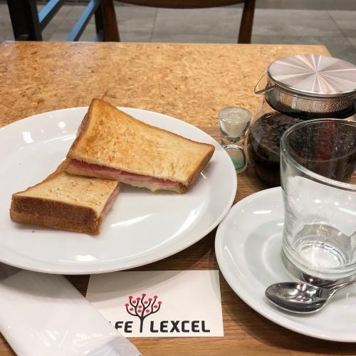 CAFE LEXCEL ハム&チーズと紅茶のセット