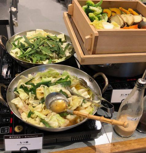 リッチモンドホテル福岡天神 朝食 もつ鍋