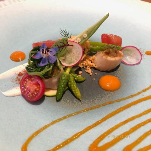 キュイジーヌ フランセーズ サンセリテ ホタテのサラダ