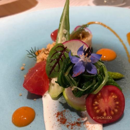キュイジーヌ フランセーズ サンセリテ 前菜 ホタテのサラダ2