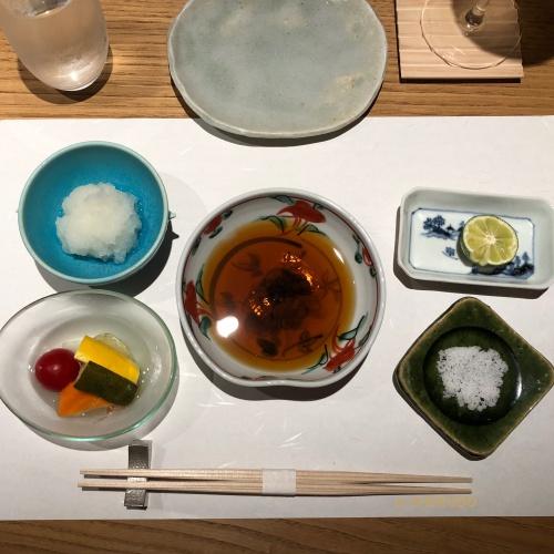 天ぷら 川原崎 テーブルセッテイング2