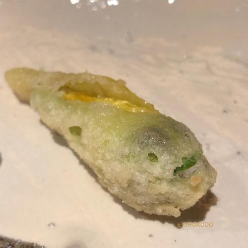天ぷら 河原崎 満願寺唐辛子
