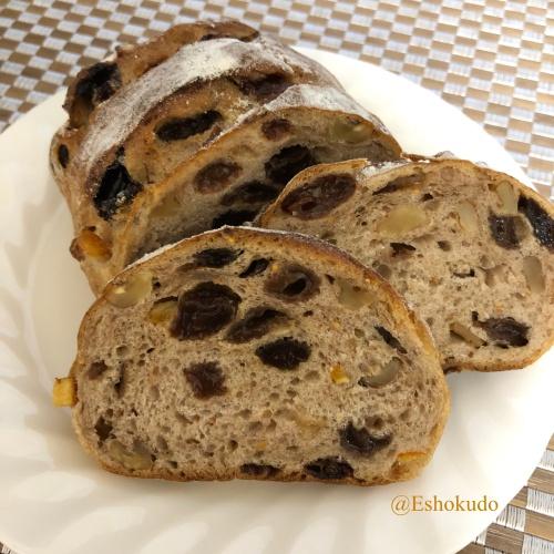 レーズンとナッツのパン