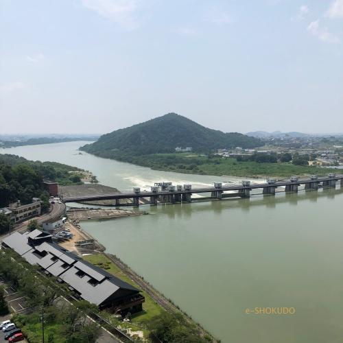 犬山城 天守閣から木曽川