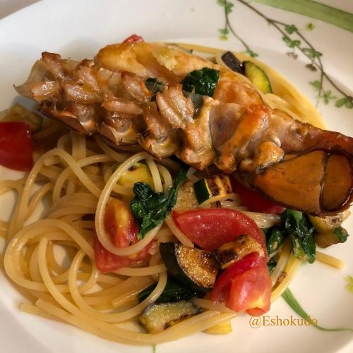 オルタリストランテ オマールと地元野菜のパスタ