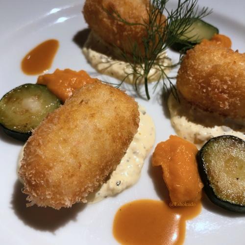 洋食 つばき 蟹クリームコロッケ