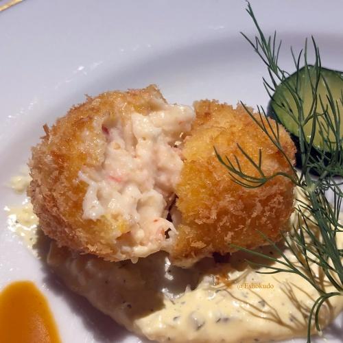 洋食 つばき 蟹クリームコロッケ2