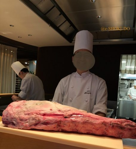 銀座ひらやま テンダーロイン肉処理前