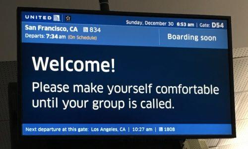 ラスベガス空港案内板