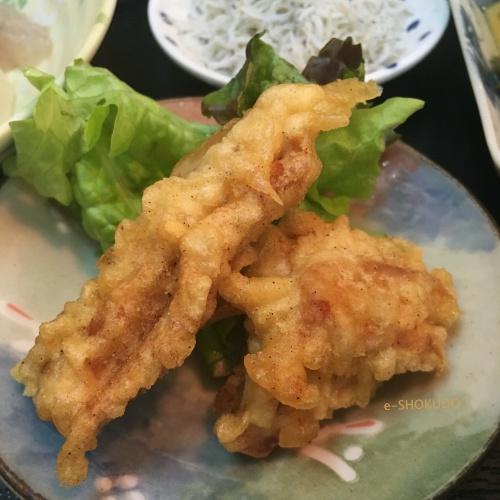 日替わり定食ーまぐろ天ぷら