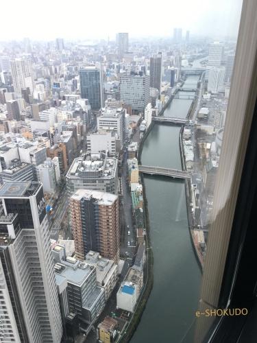 コンラッド大阪エグゼクティブコーナールーム西側景色